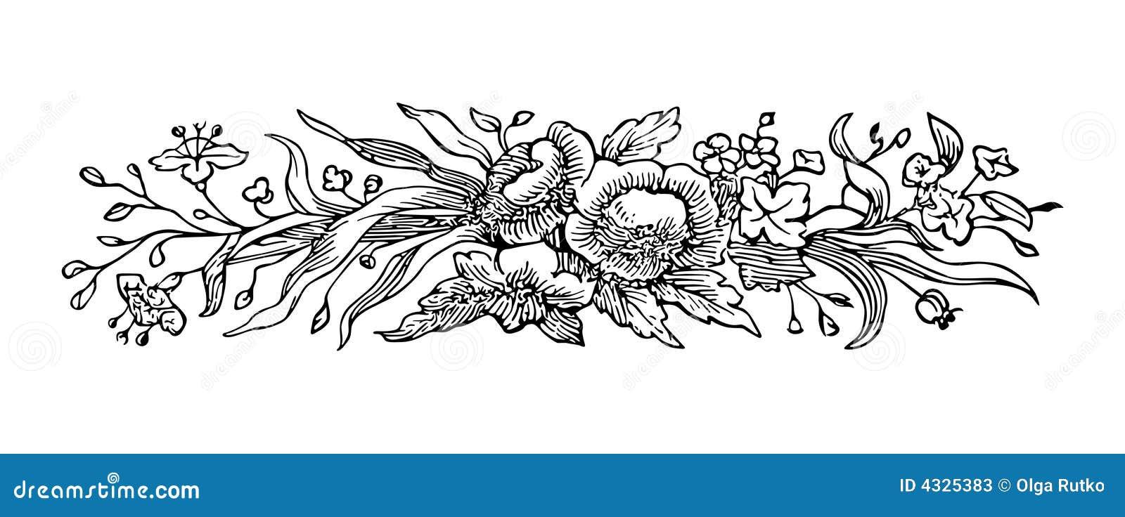 Grabado de la flor