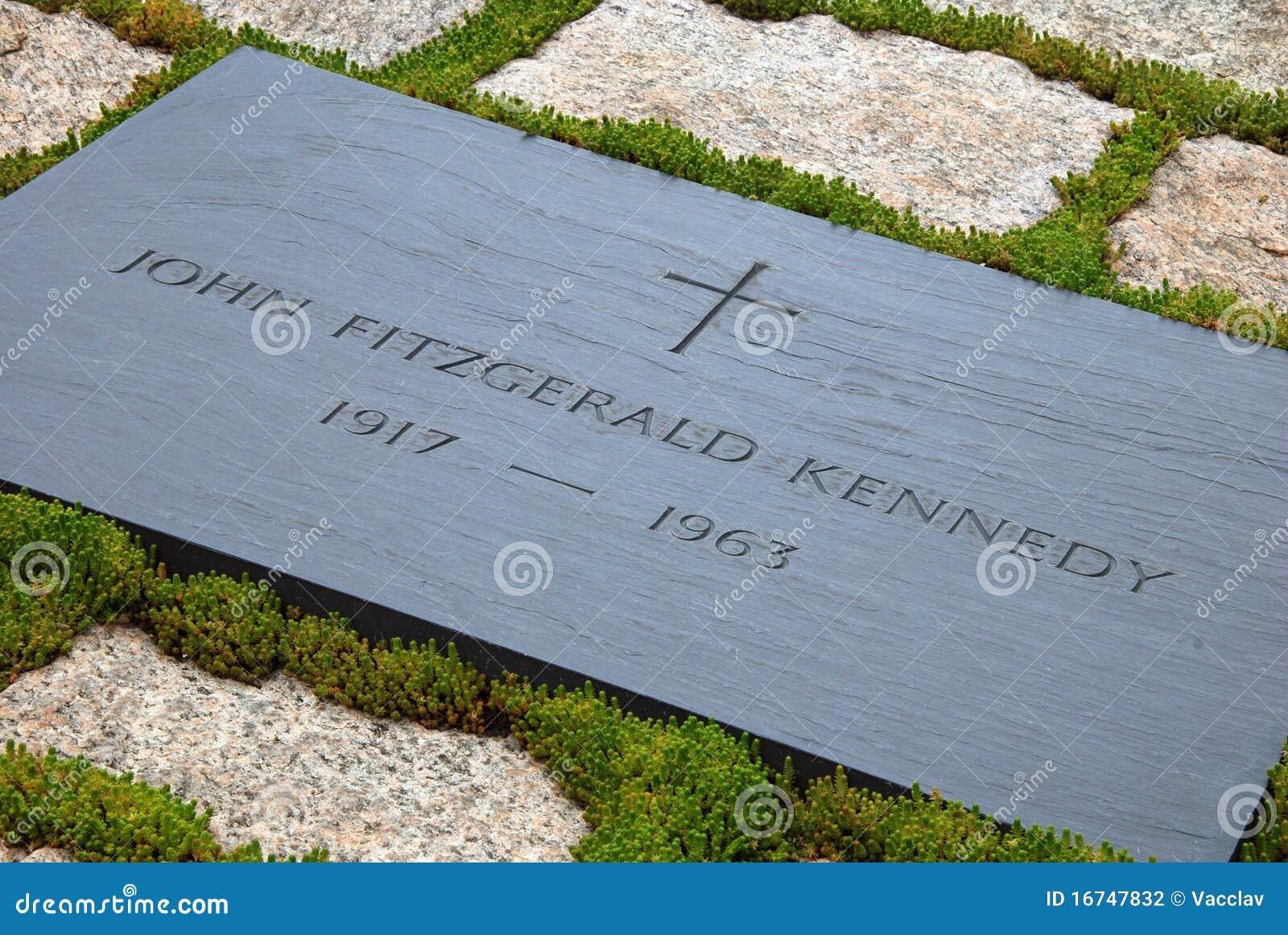 Grabstein Von Jfk Auf Arlington Nationalem Kirchhof Redaktionelles