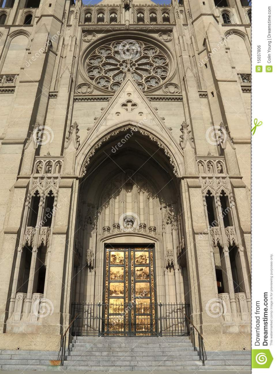 Grace Cathedral Entrance stock photo  Image of grace - 15037806