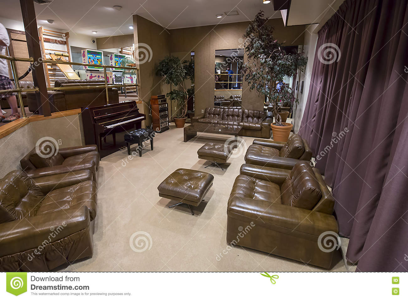 Graceland Racquetball Building Lounge Editorial Stock