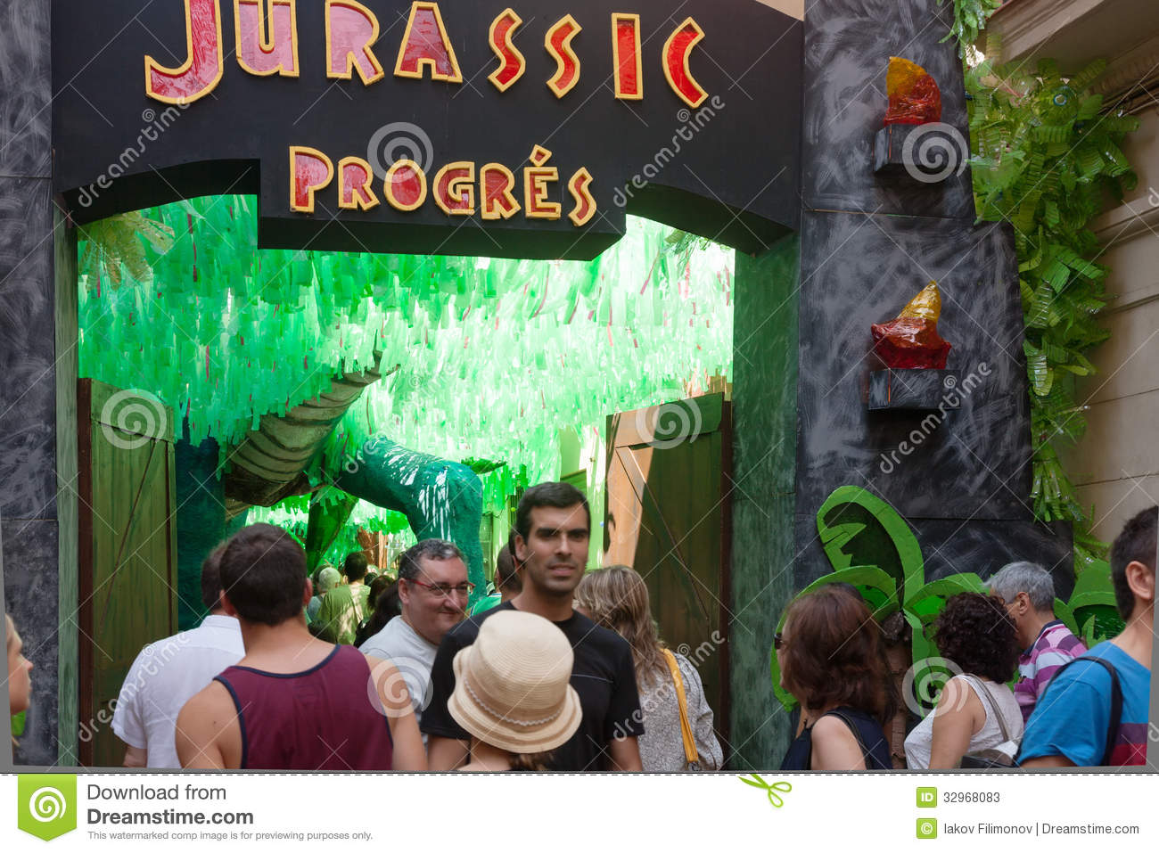 Gracia festival decorations in barcelona spain editorial for 15th august decoration ideas