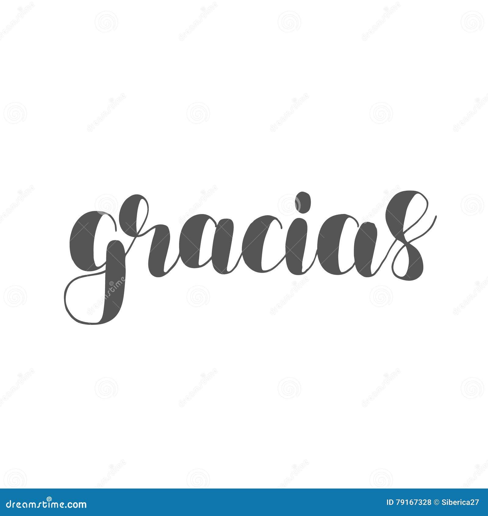 gracias danke auf spanisch b rsten beschriftung stockfoto bild von plakat inspirational 79167328 On danke auf spanisch