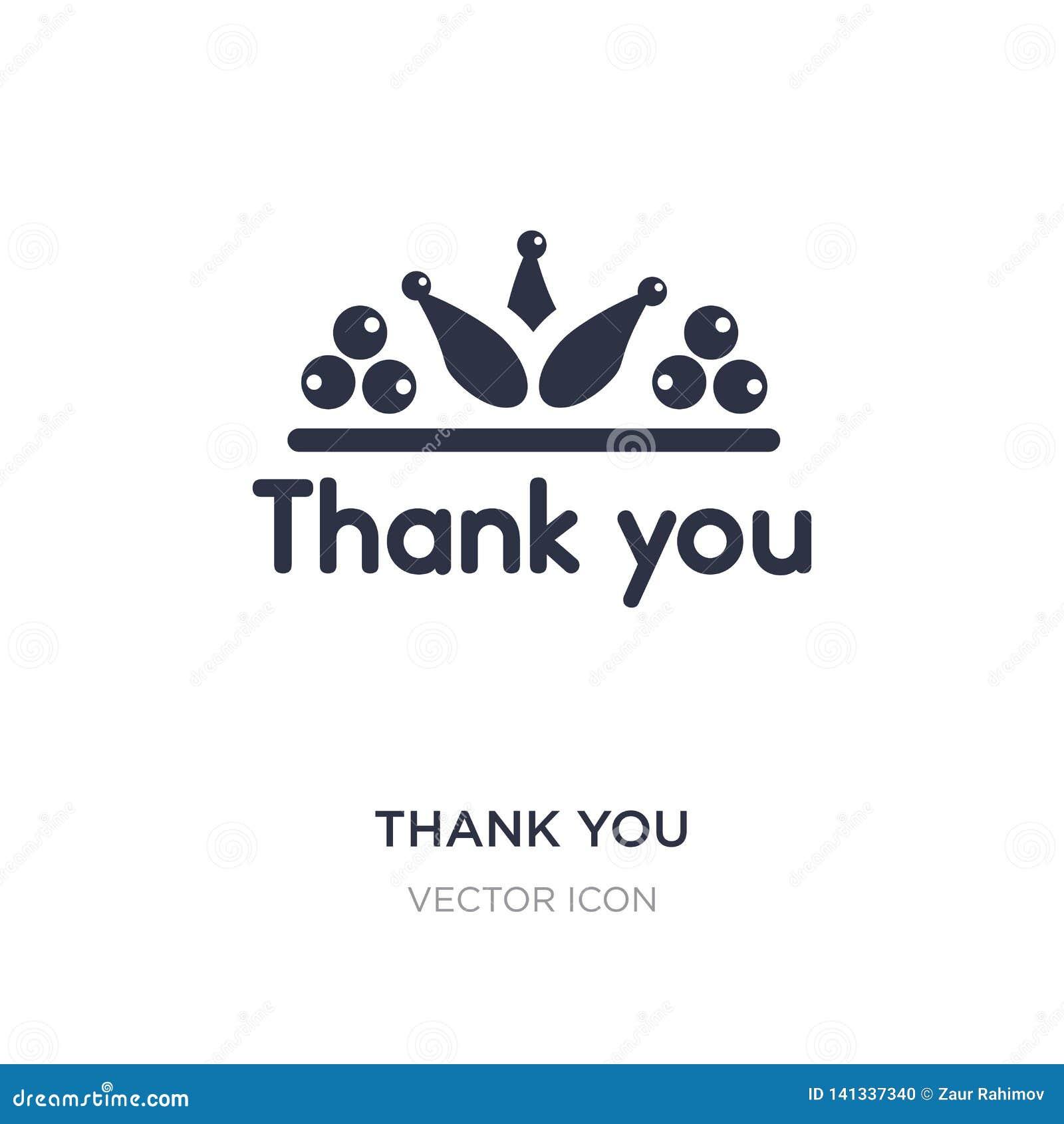 Gracias icono en el fondo blanco Ejemplo simple del elemento del concepto de la acción de gracias