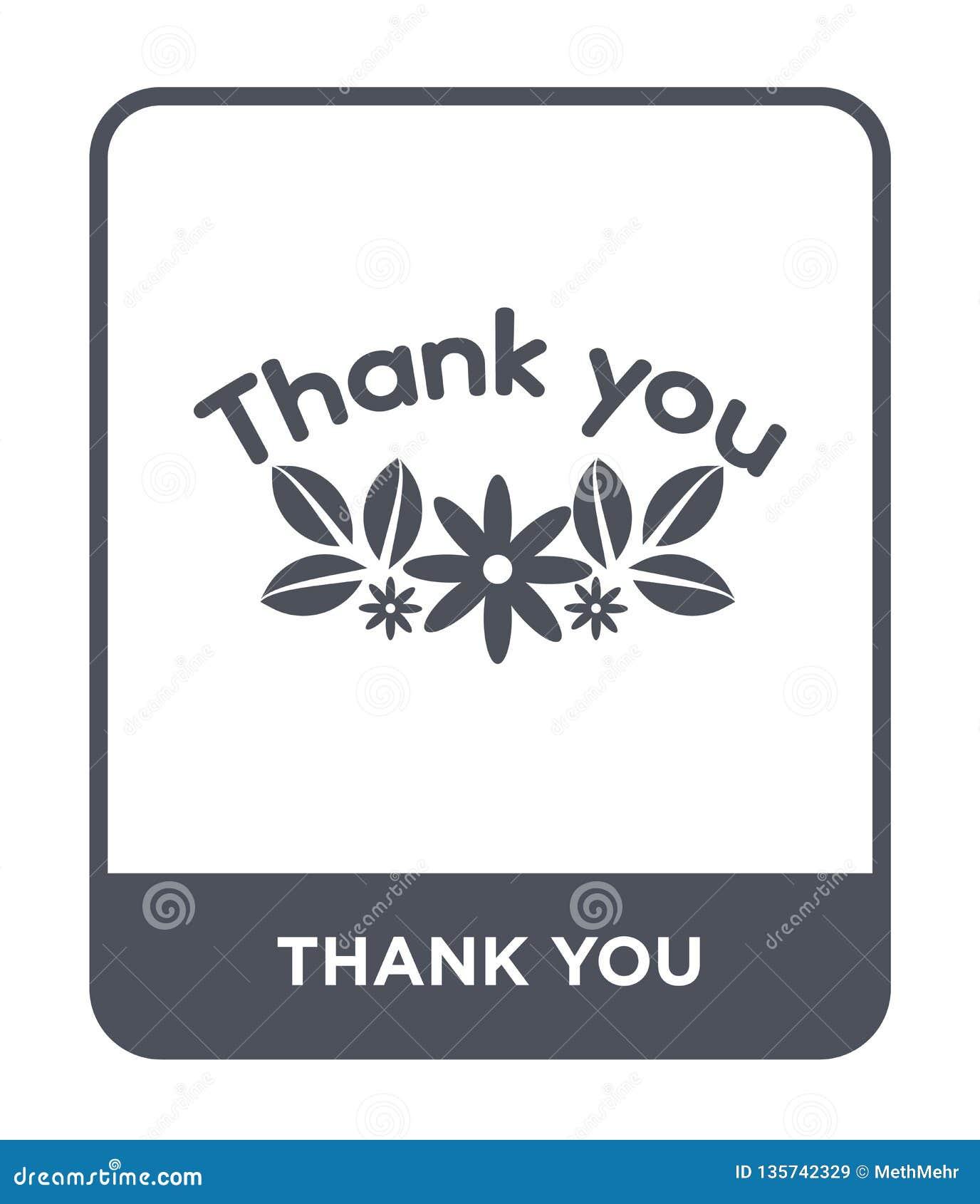 Gracias icono en estilo de moda del diseño Gracias icono aislado en el fondo blanco gracias plano simple y moderno del icono del