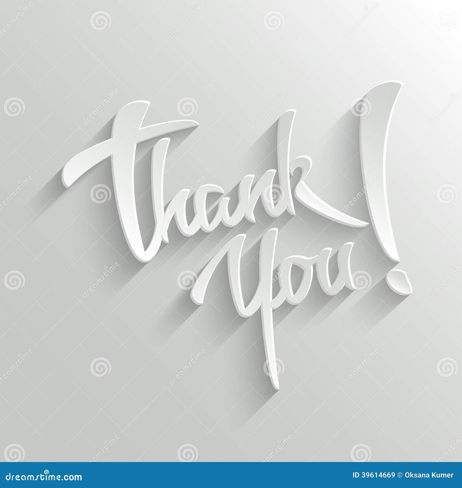 Gracias tarjeta de felicitación de las letras