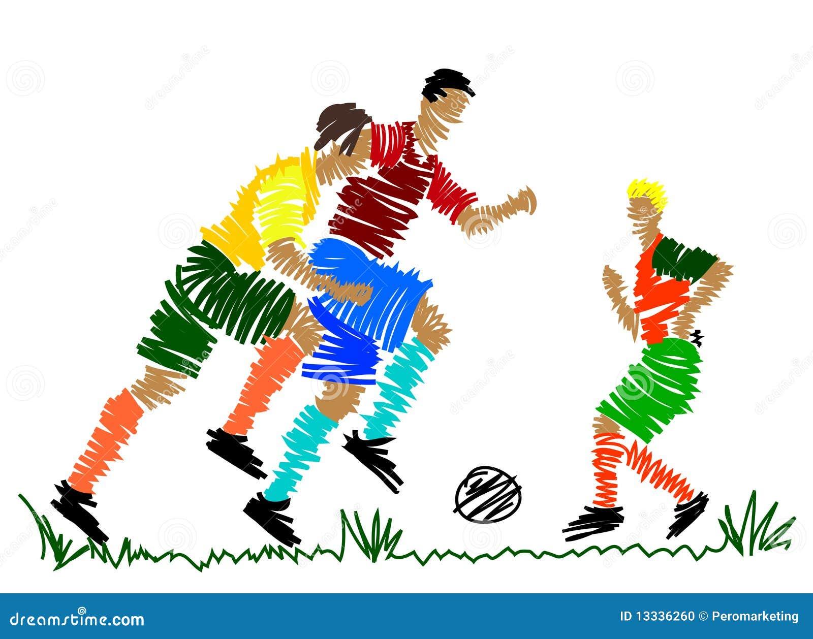 Gracz abstrakcjonistyczna piłka nożna