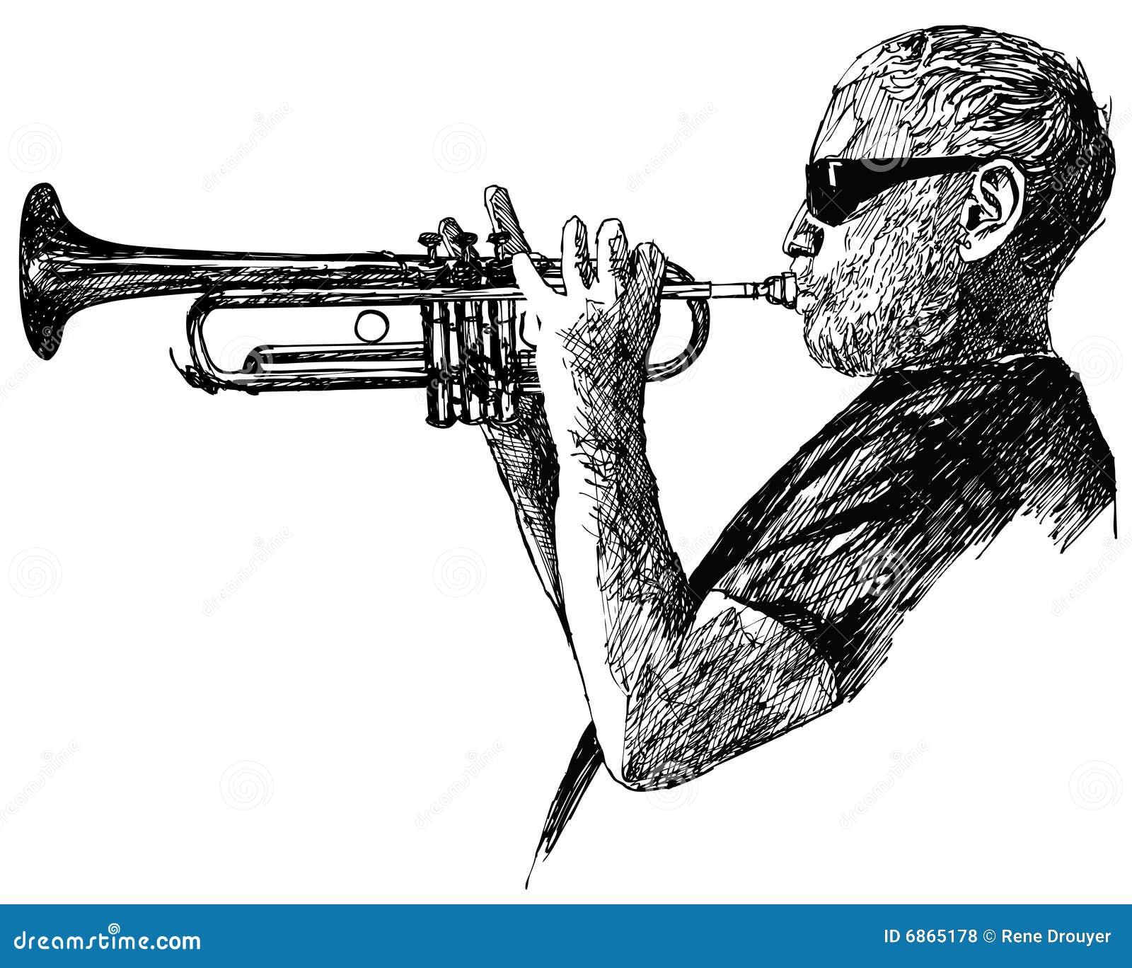 Gracz jazzowa trąbka