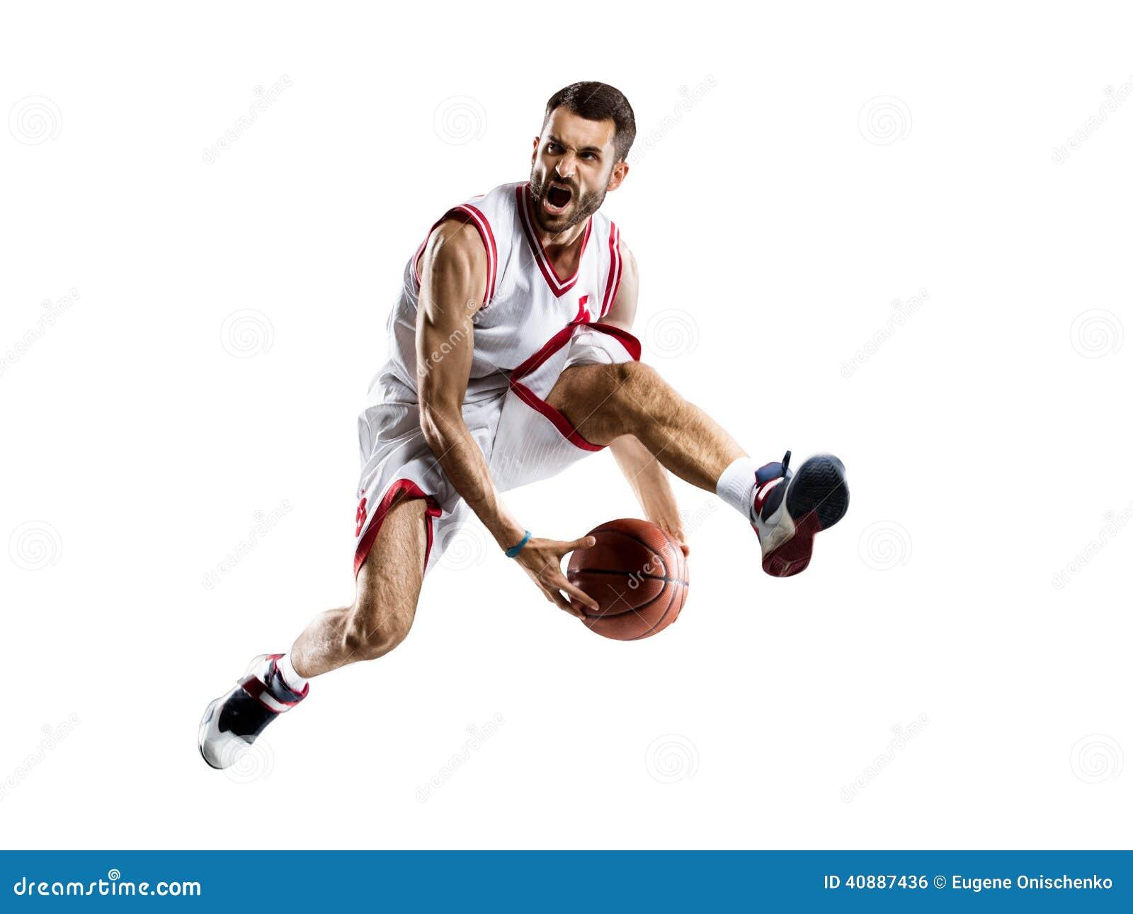 Gracz koszykówki w akci