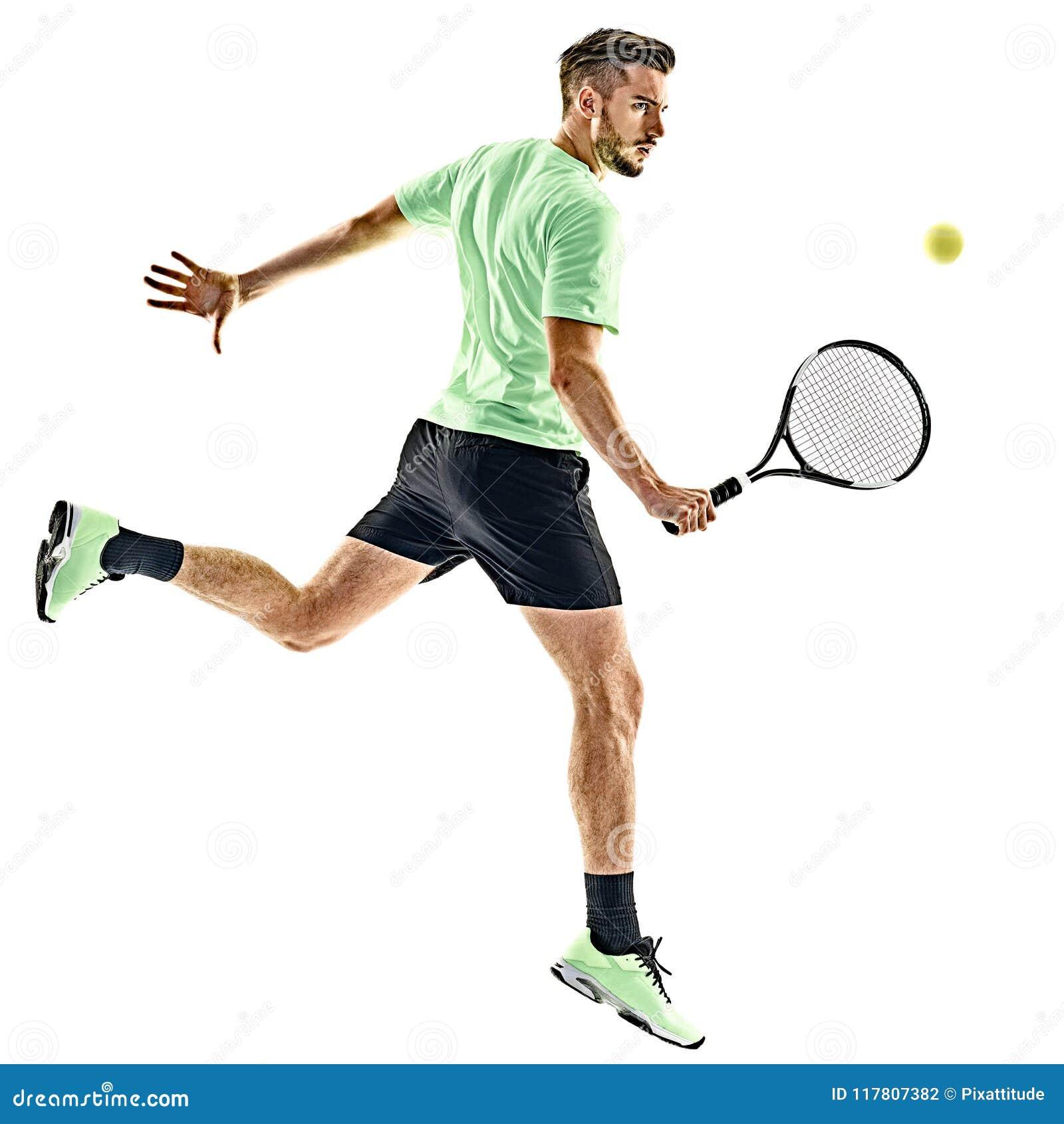 Gracz w tenisa mężczyzna odizolowywający