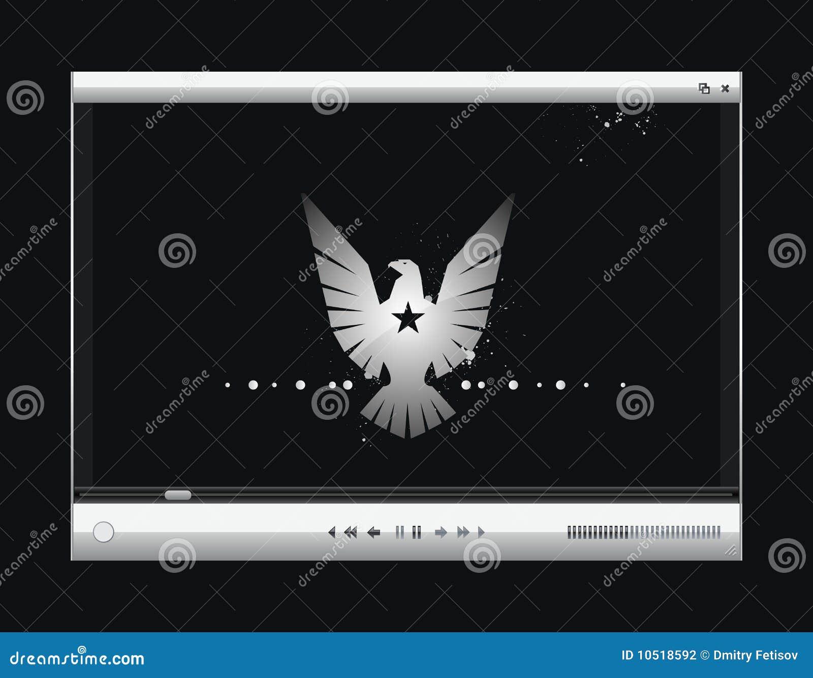 Gracza ekranu wektoru wideo