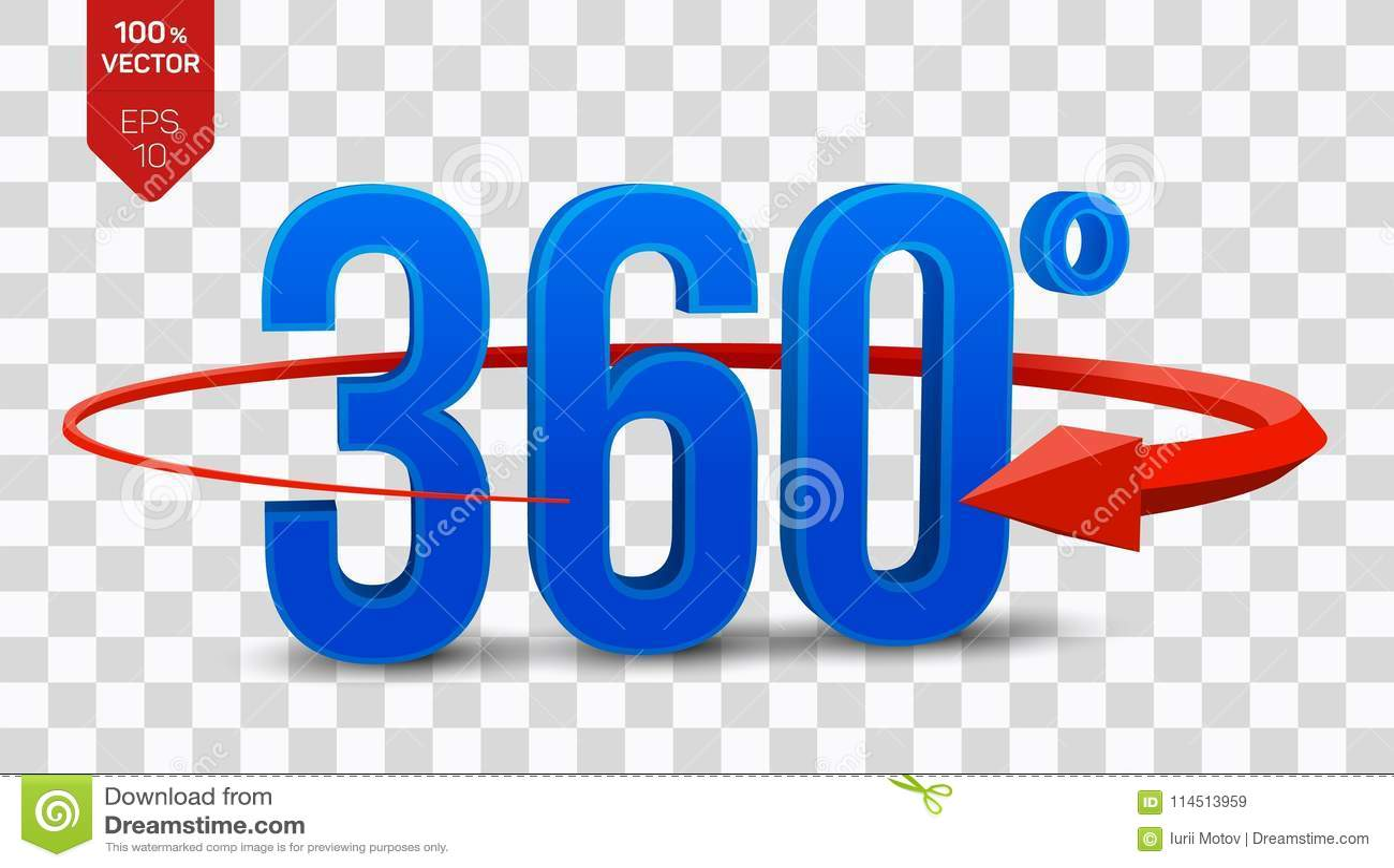 360 Grad Zeichen sehen isometrischer Winkel 3d 360 Grad Ikone auf transparentem Hintergrund an Virtuelle Realität geometrie
