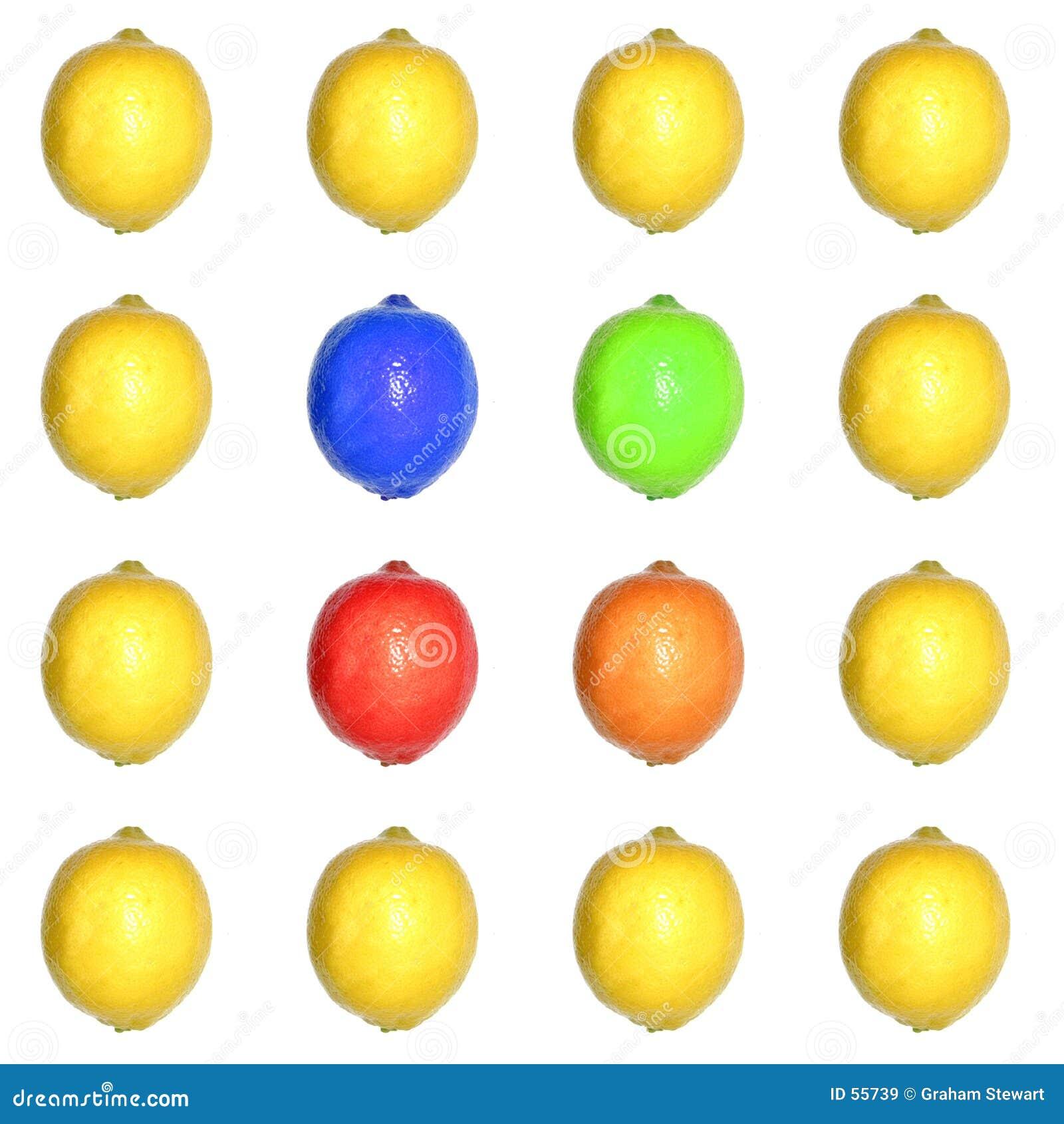 Grade colorida do limão
