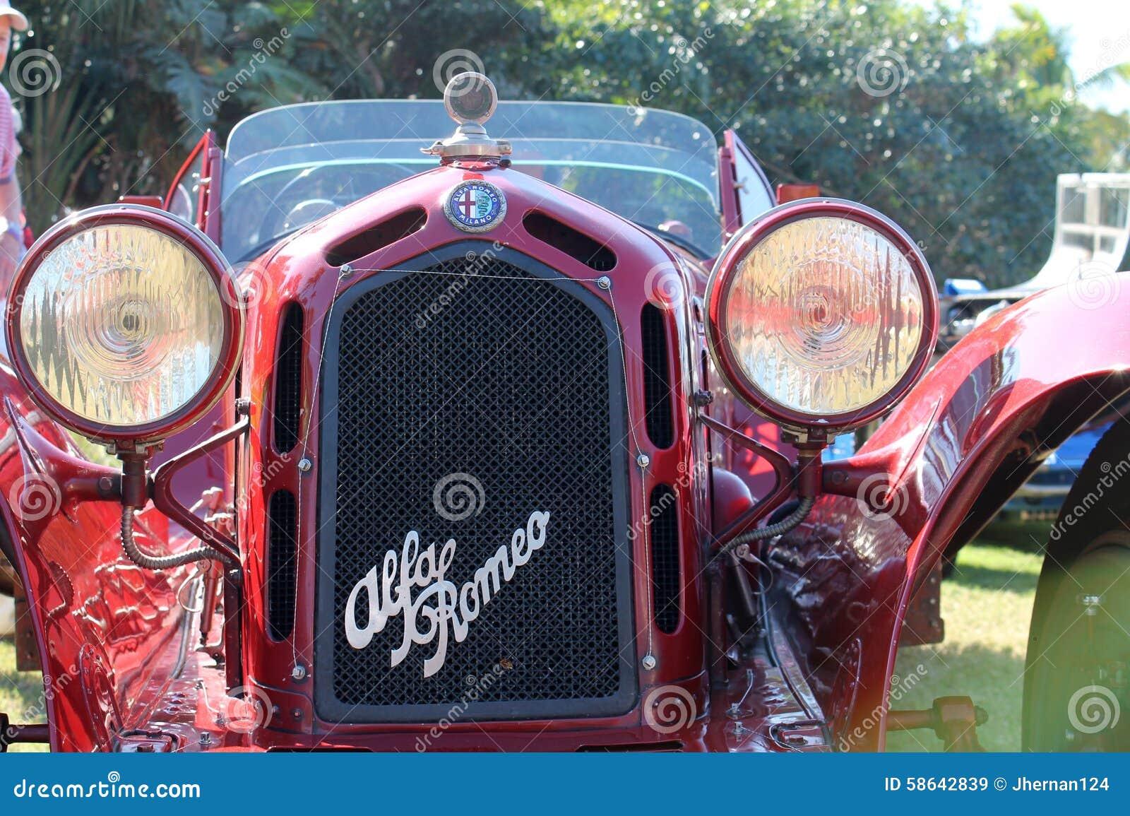 Grade & farol do piloto de romeo do alfa do vintage