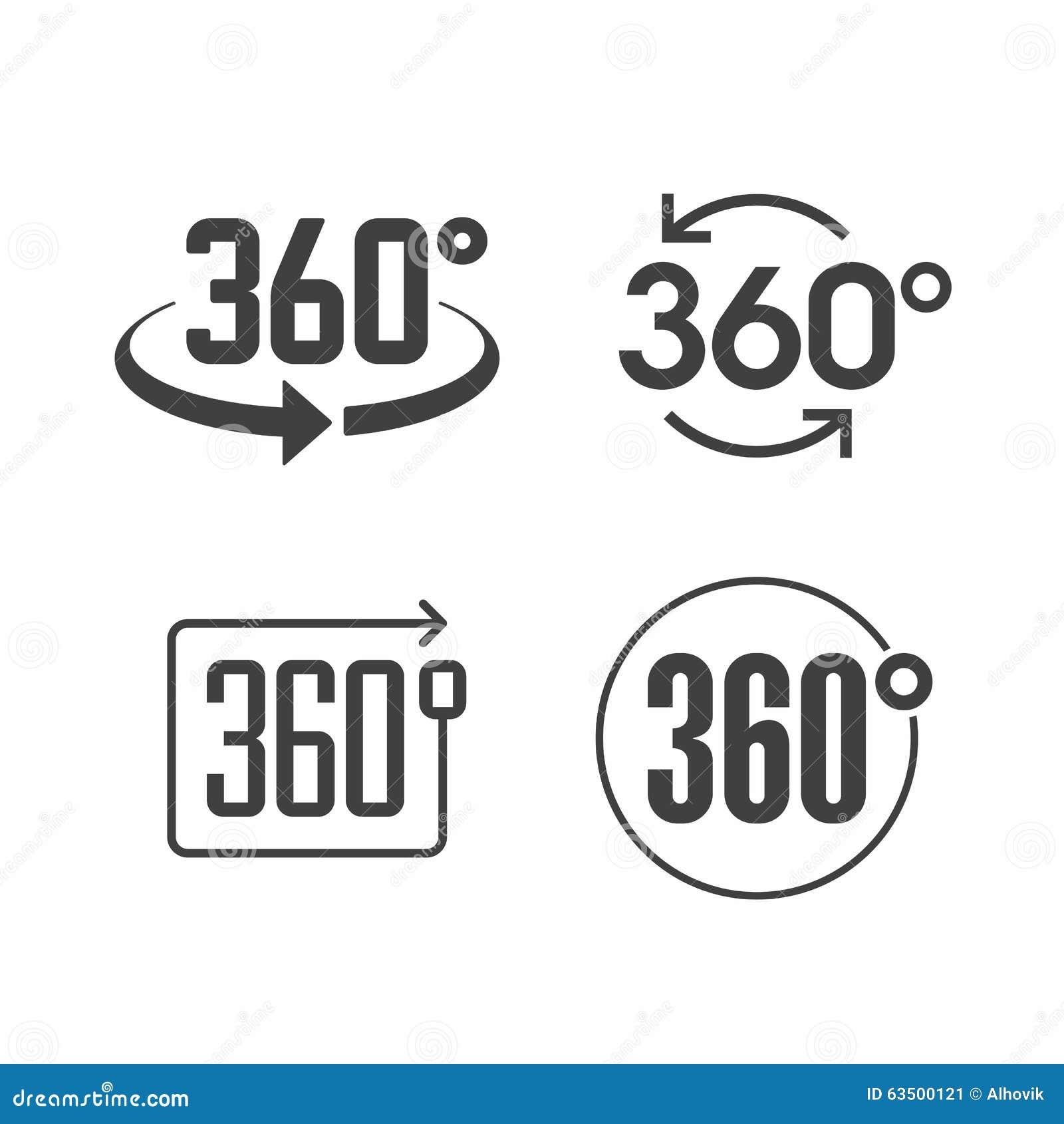 360 Graden Van Het Meningsteken Het Pictogram Vector ...