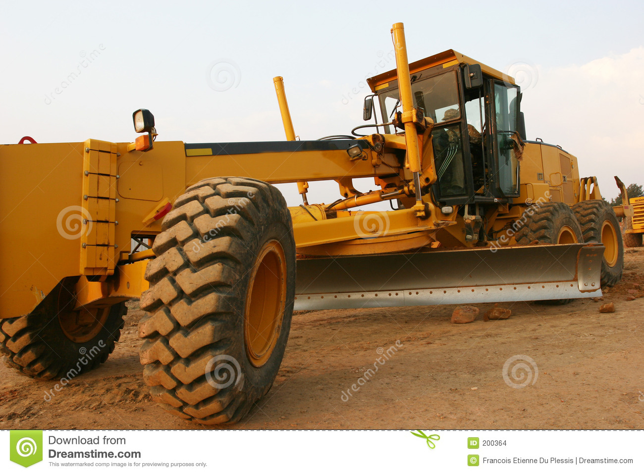 Grader Road Construction Stock Images Image 200364