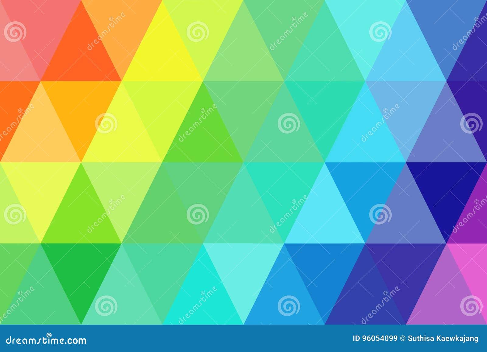 Gradient abstrait d arc-en-ciel de triangles pour le fond St géométrique