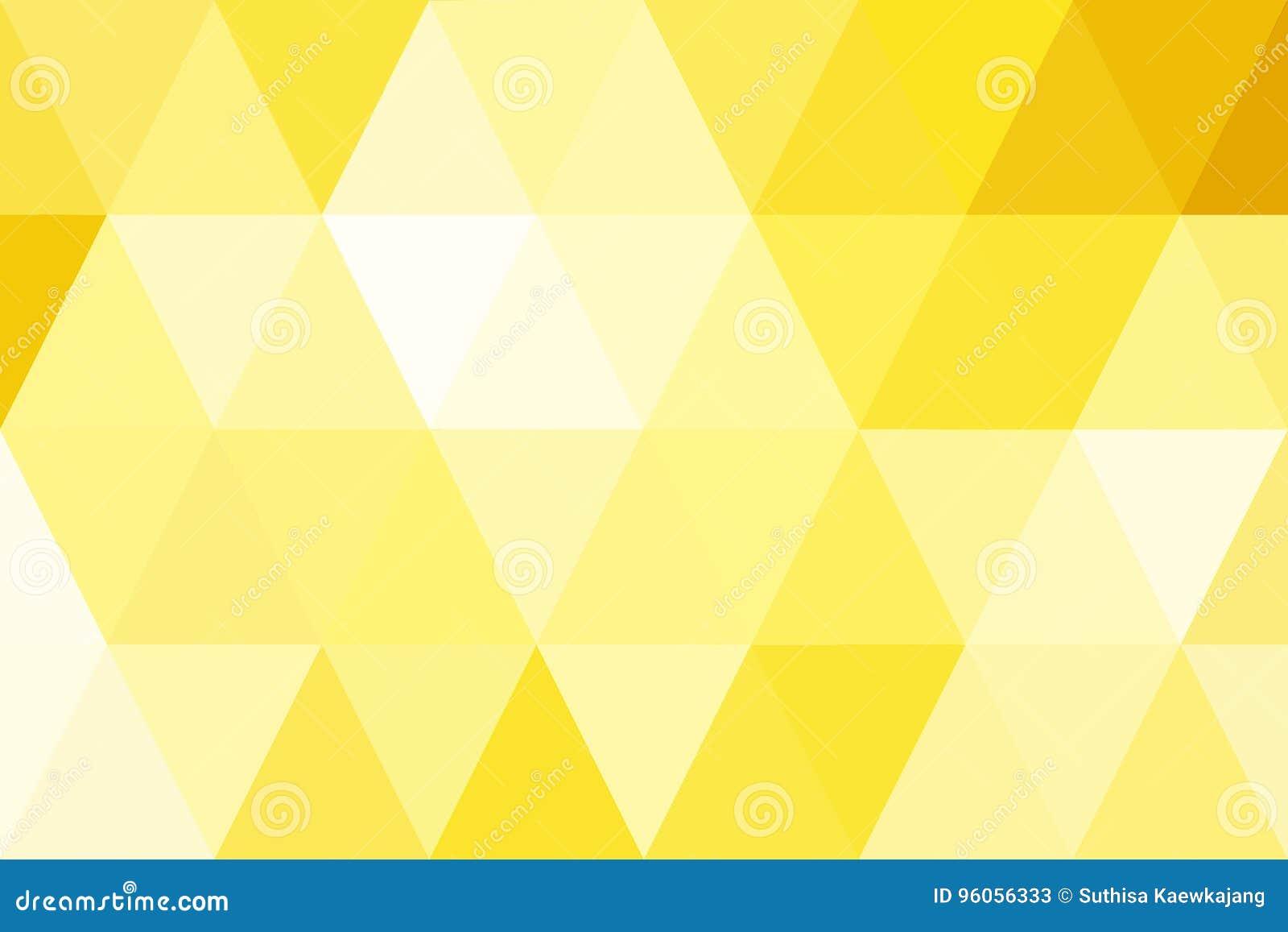 Gradient abstrait d or de triangles pour le fond Style géométrique