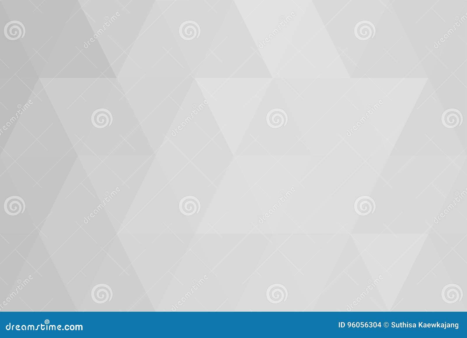 Gradient blanc de triangles abstraites pour le fond styl géométrique