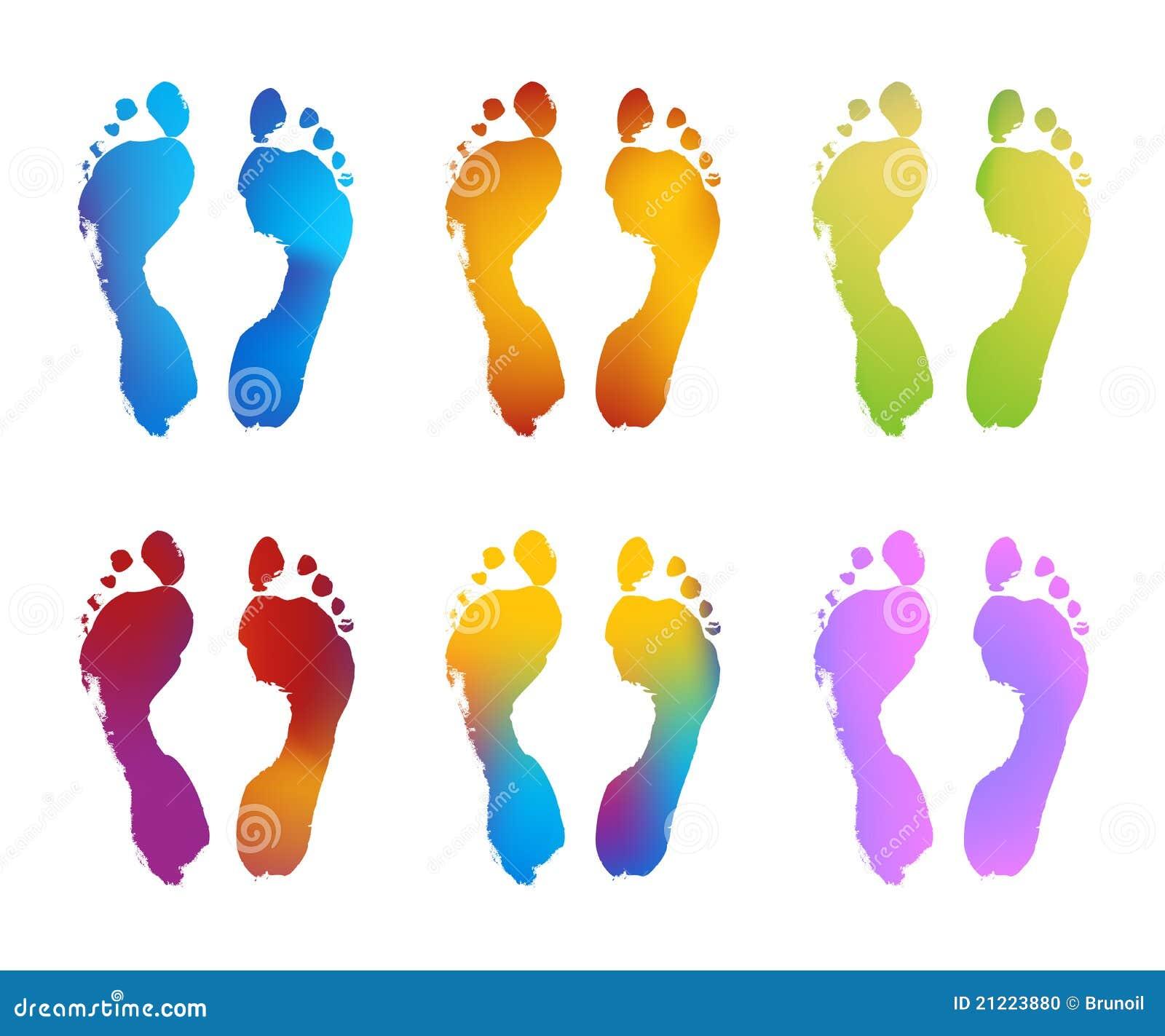 Gradient Color Footprints Stock Photo - Image: 21223880 Стопы Рисунок