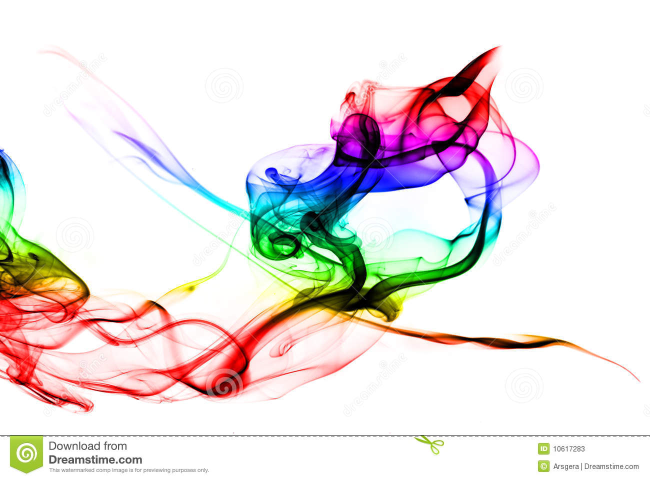Gradient Colored Fume Shape On White Background Stock Photos - Image ...