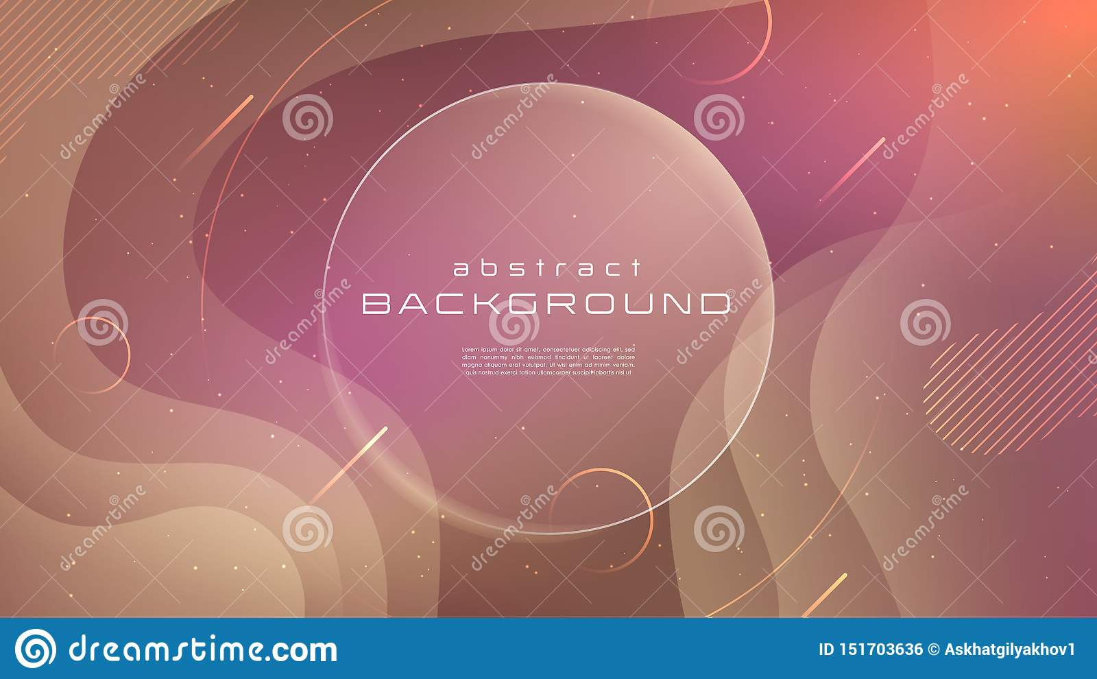 Gradient fluid red soft color abstract background. Liquid shapes futuristic concept. Creative motion geometric wallpaper