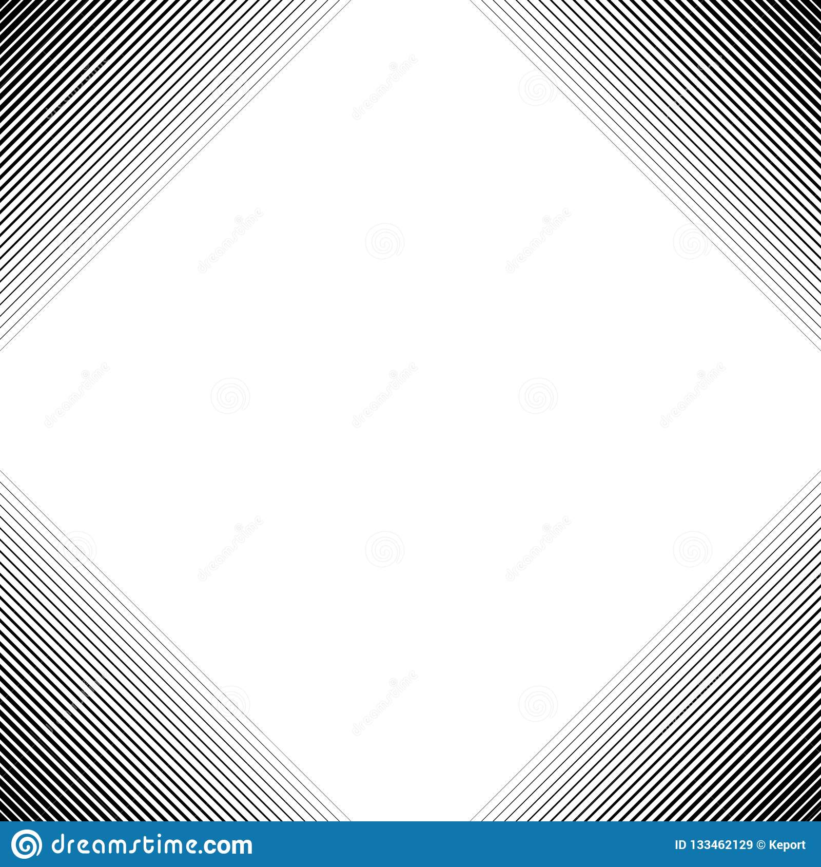 Gradient Frame Made Of Black And White Stripes Stock Illustration