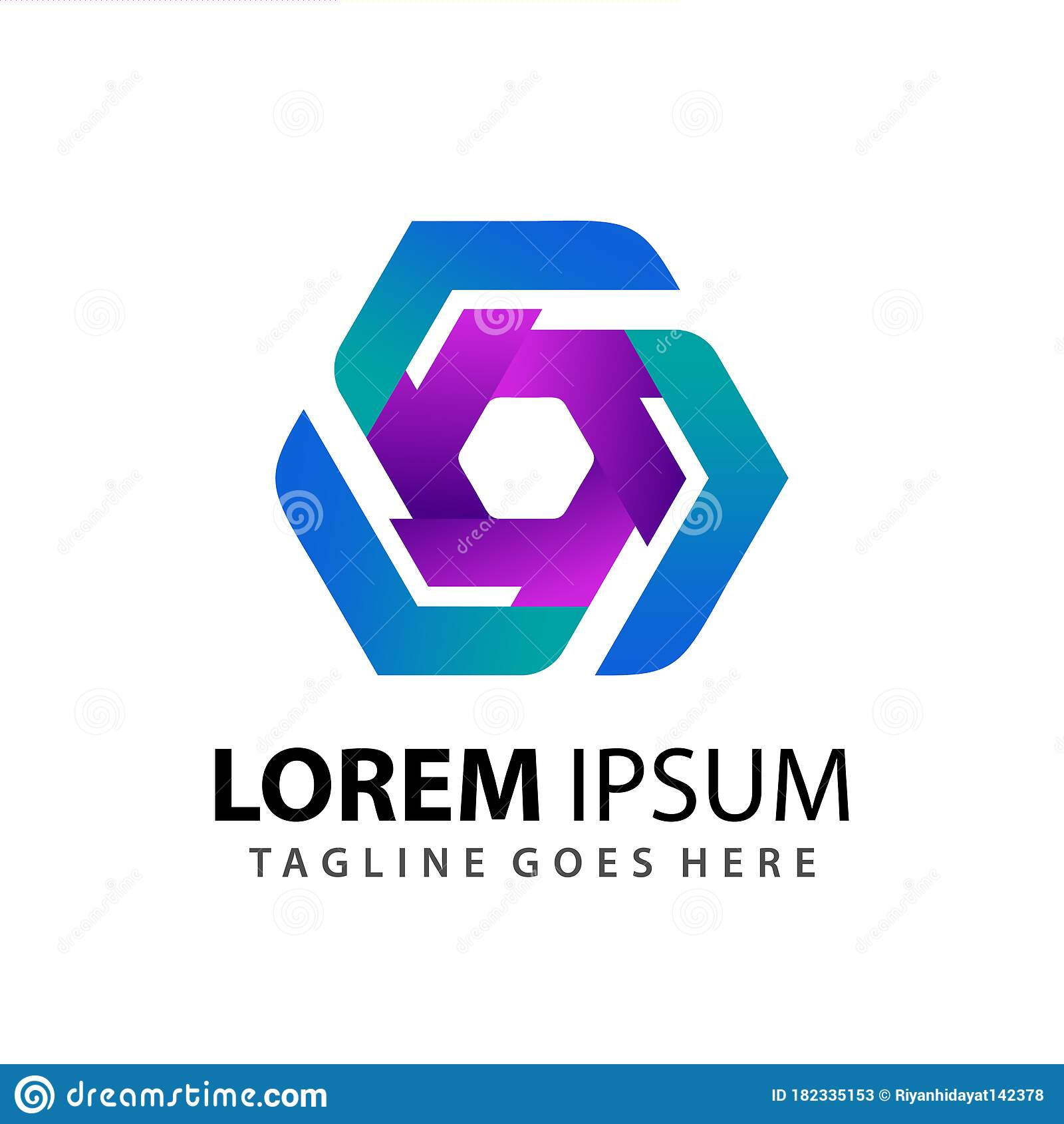 Gradient Abstract Company Logo Template
