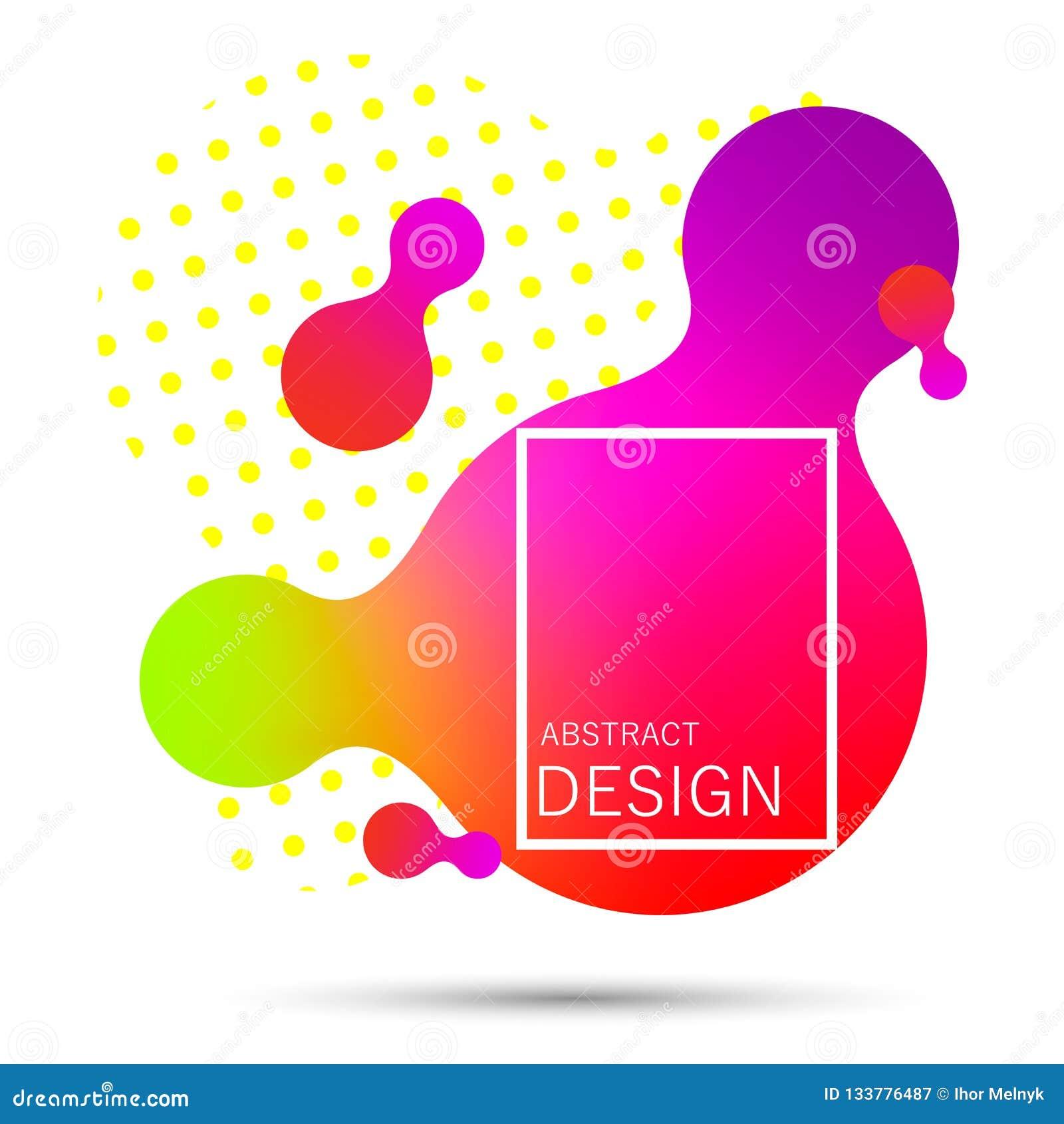 Gradient liquide abstrait de forme
