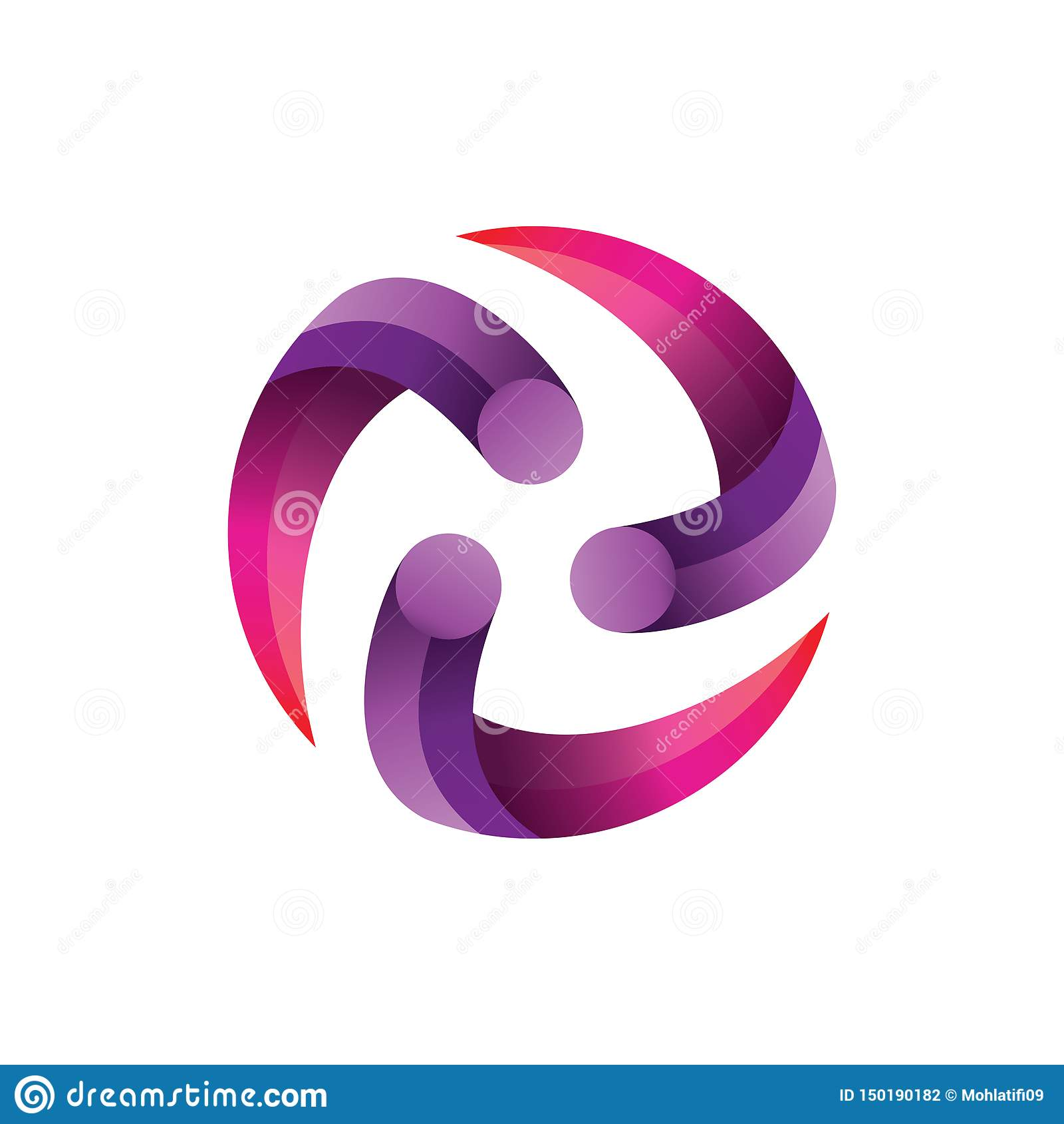 Gradient Logo Vector de centre de cercle