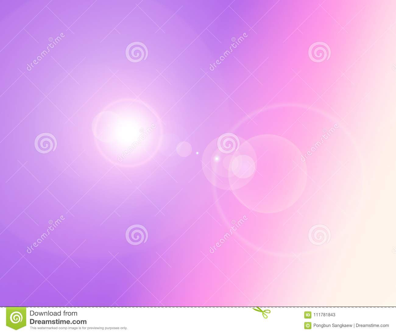 Gradient pink ,purple ,violet ,yellow pastel with flare light