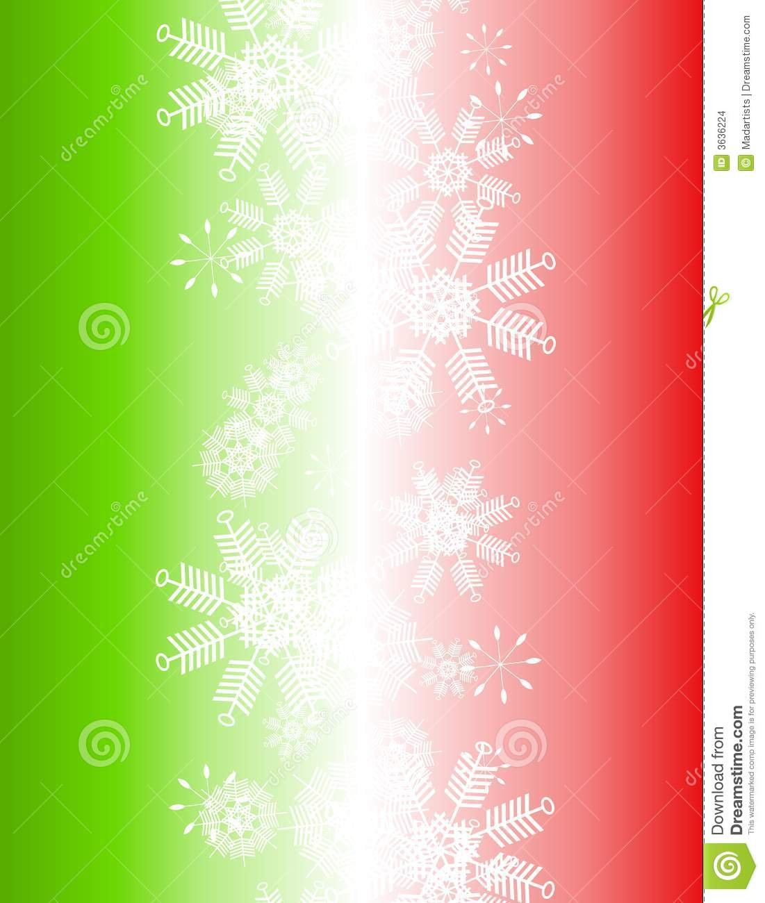 Gradient Red Green Christmas Snowflake Background Stock Images - Image ...