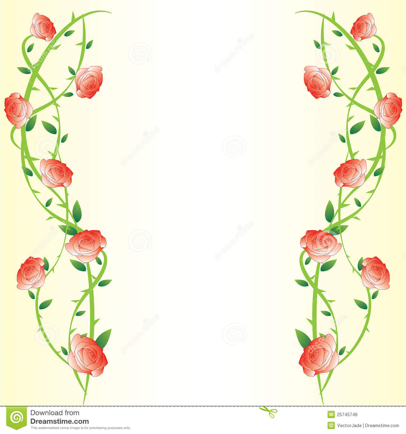 Gradient Rose Background Frame