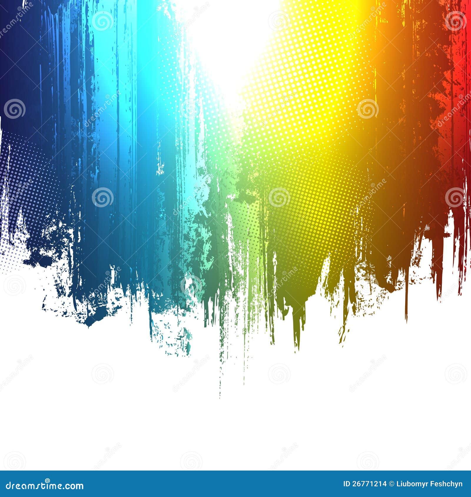 Gradientowa farba bryzga tło