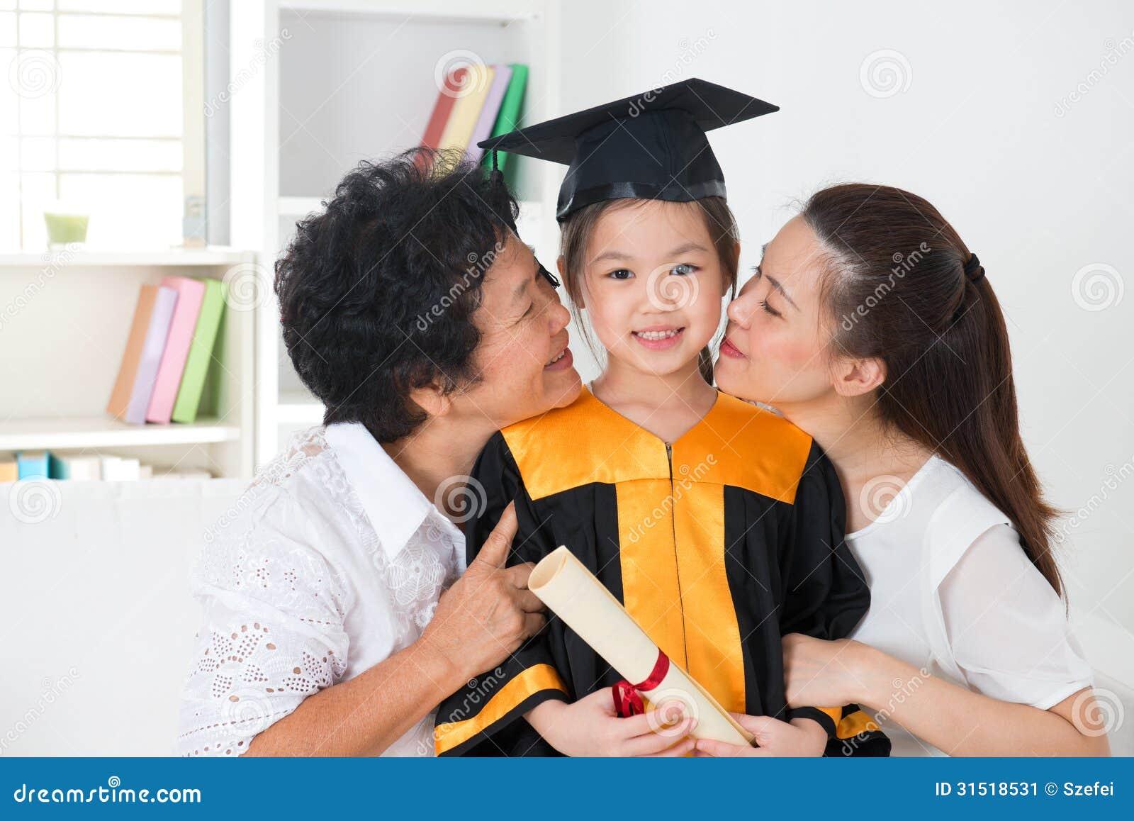 Graduação do jardim de infância.