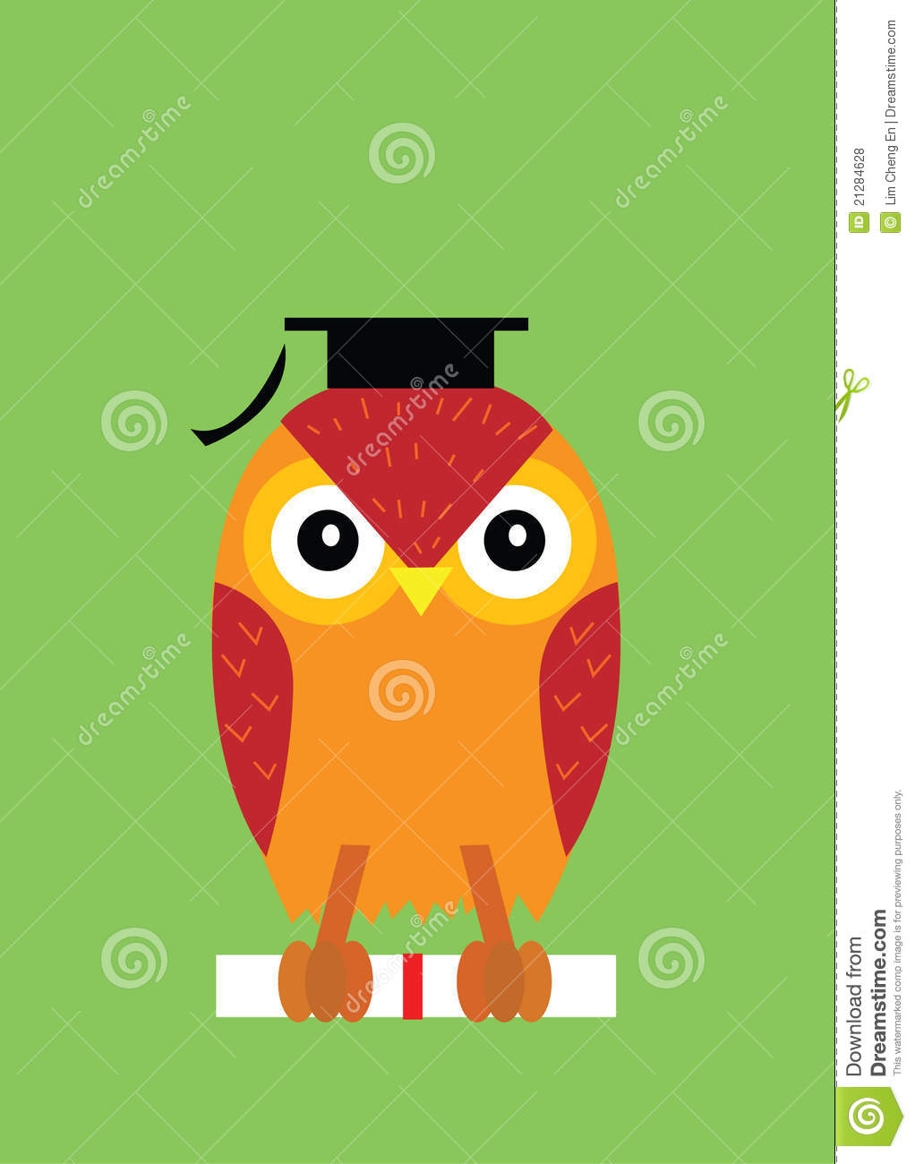 Graduation Owl Free Vector