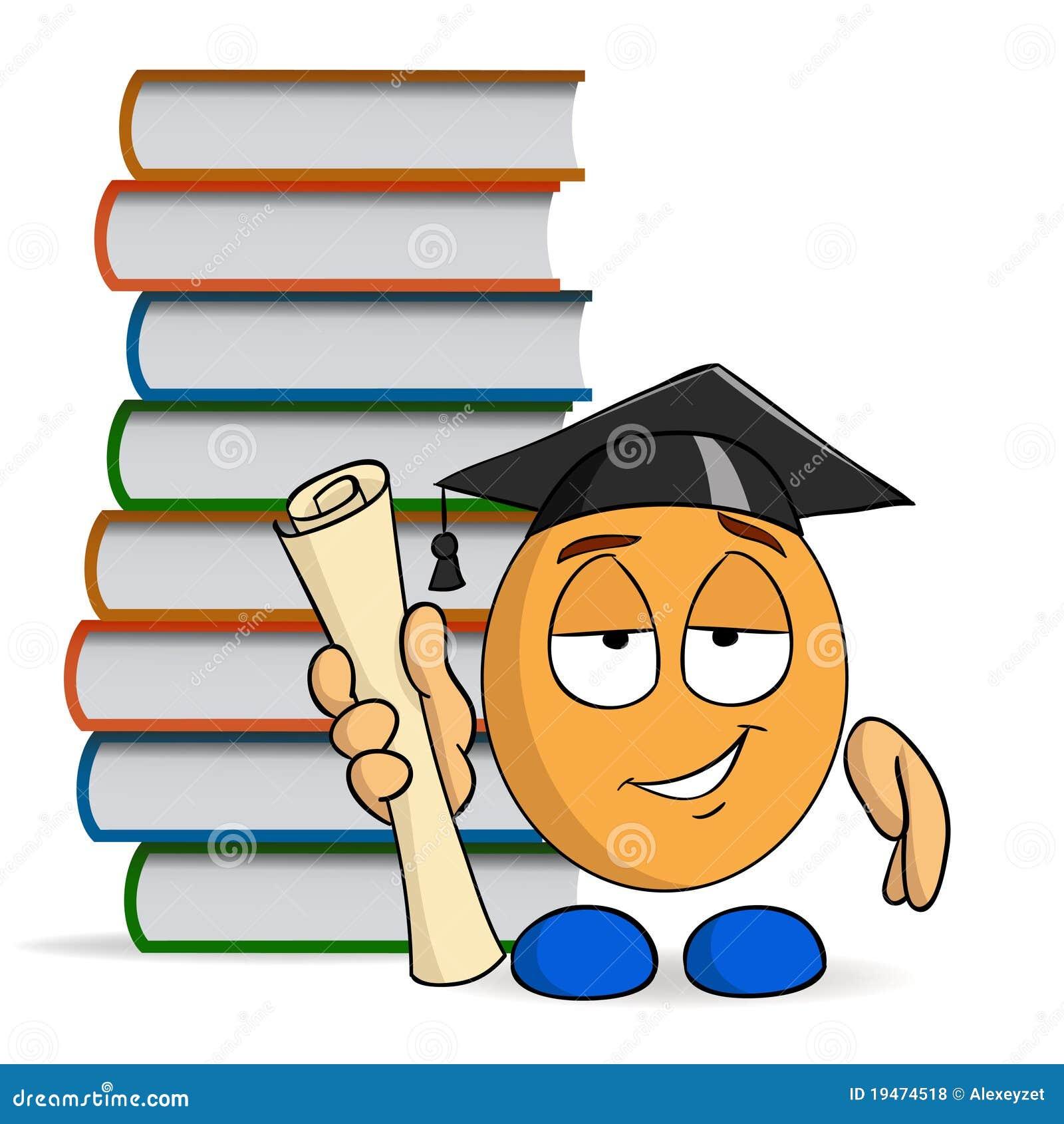 Graduaci n del personaje de dibujos animados con los - Imagenes de librerias ...