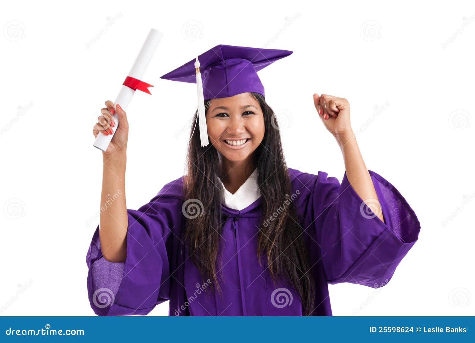 Graduado alegre de la universidad