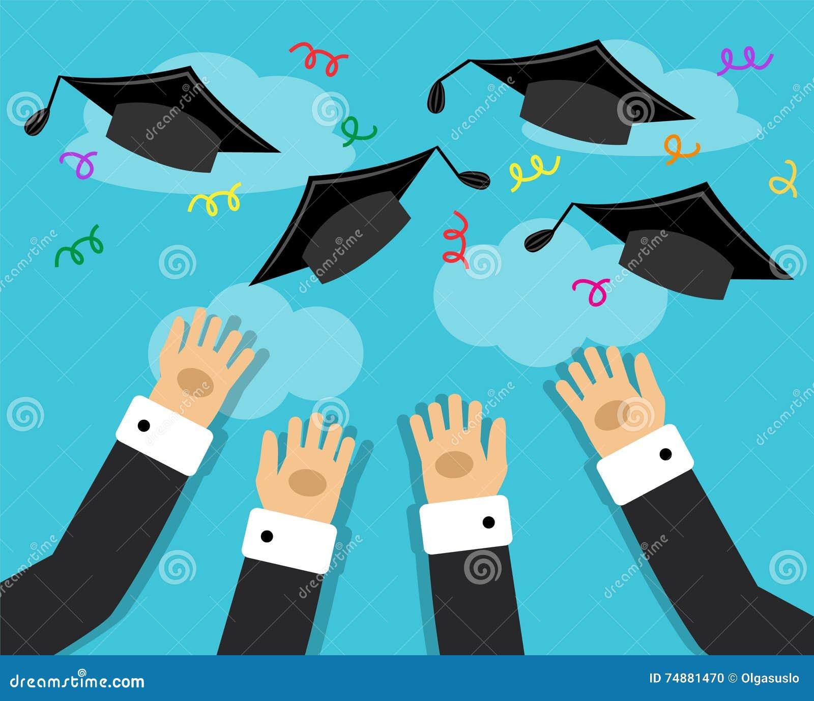 Graduados e a alegria da graduação