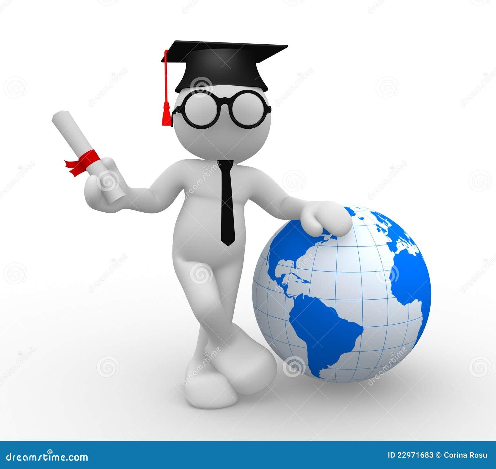 graduate stock illustration  image of honor  people  globe