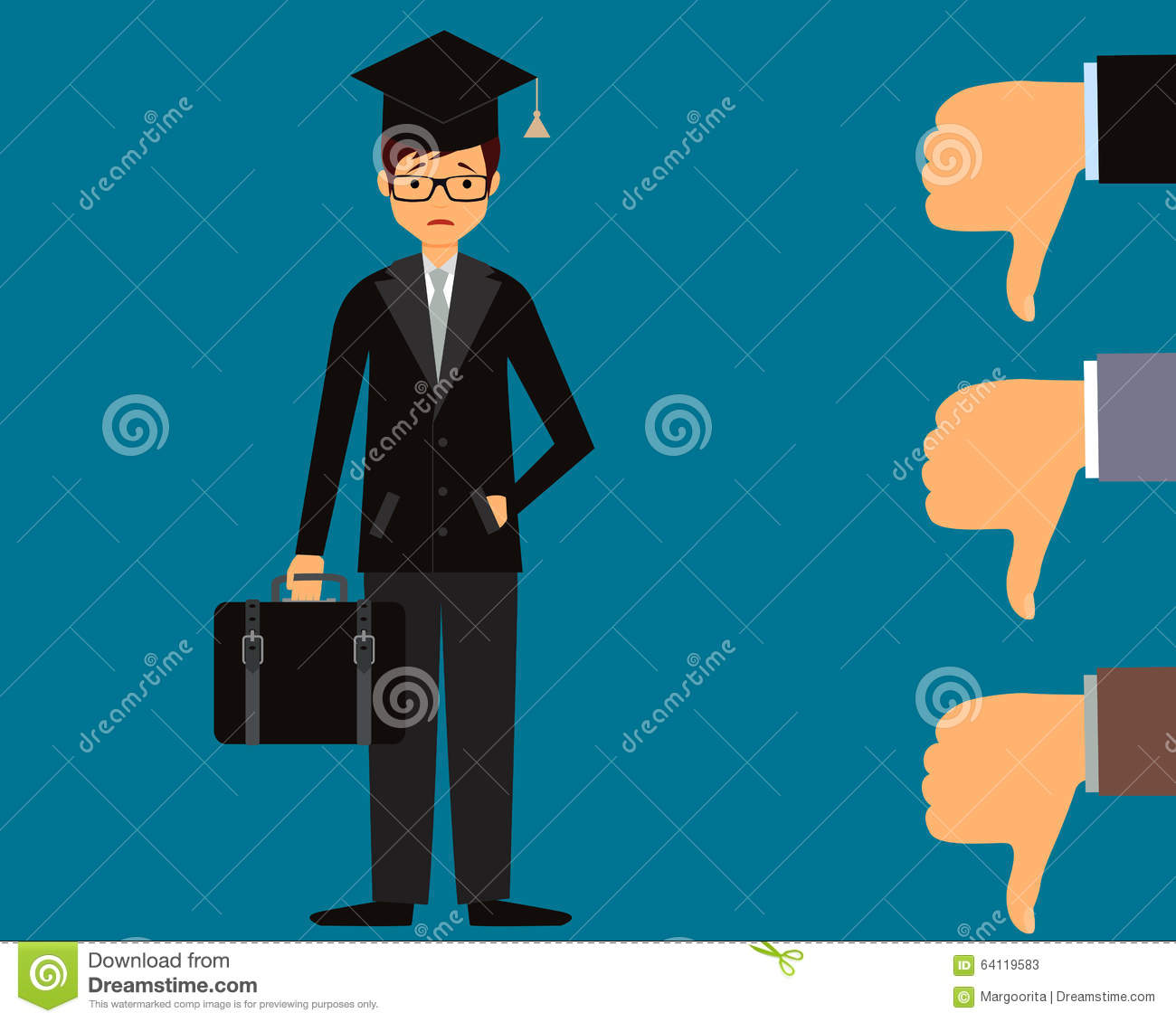 i can t it royalty stock images image  graduate can not a job stock photos