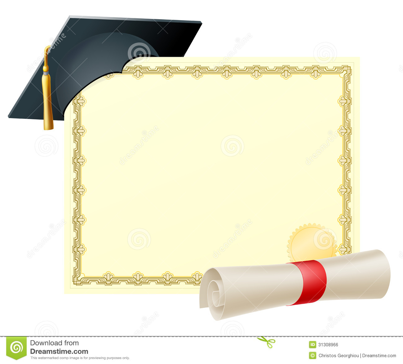 graduate certificate background royalty free stock image