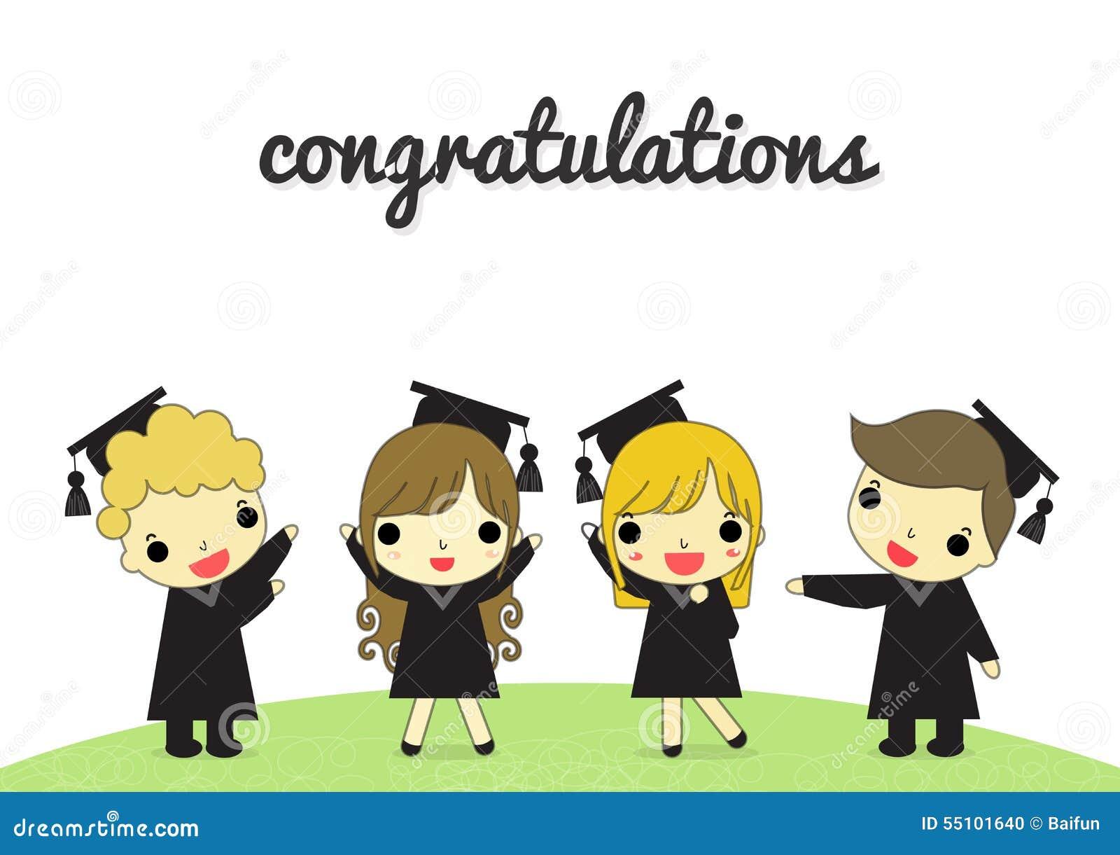 graduate and congratulation isolate stock vector illustration of