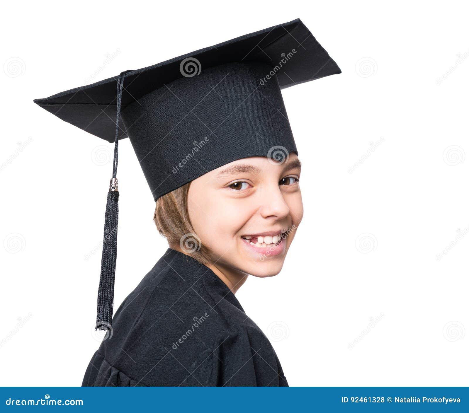 Graduate Little Girl Student Stock Photography