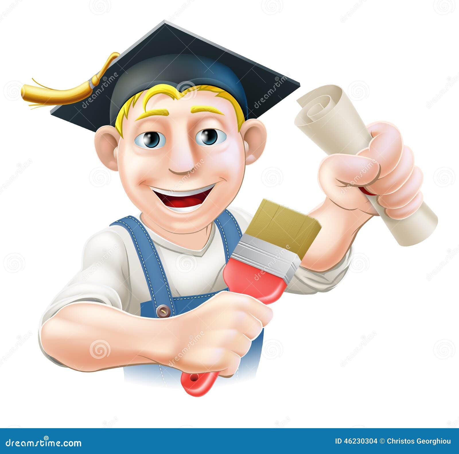 Graduate painter decorator stock vector image 46230304 for Professional decorator