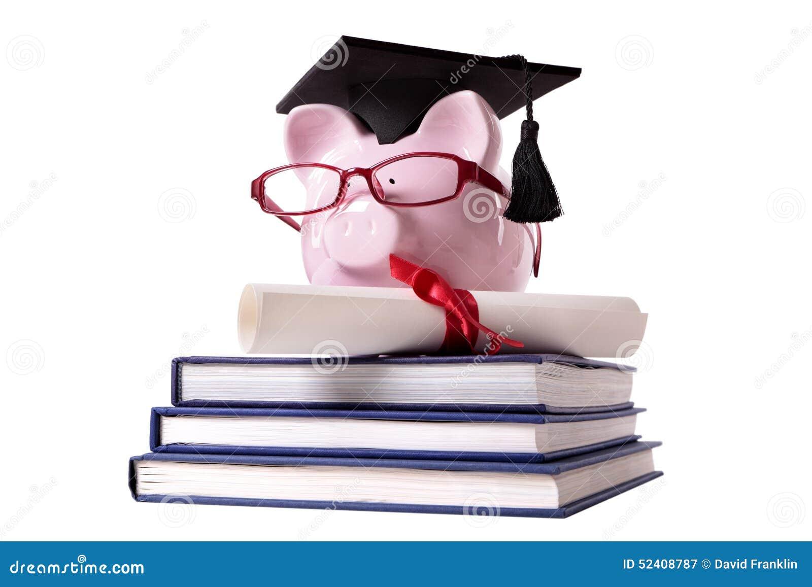 graduate piggy bank student collage graduation diploma stock image  graduate piggy bank student collage graduation diploma
