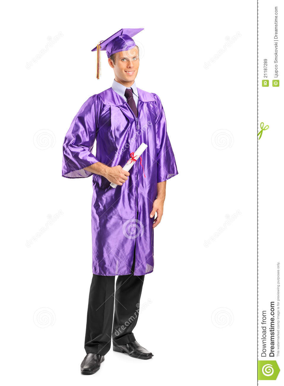 Graduate student holding a diploma