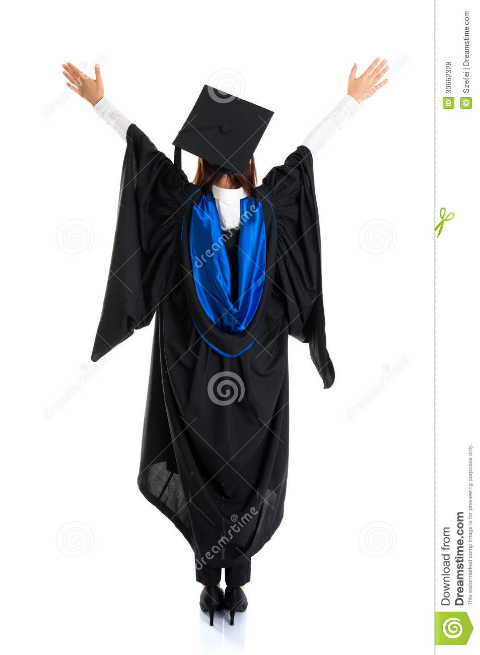 Graduate Student Rear View Royalty Free Stock Photos