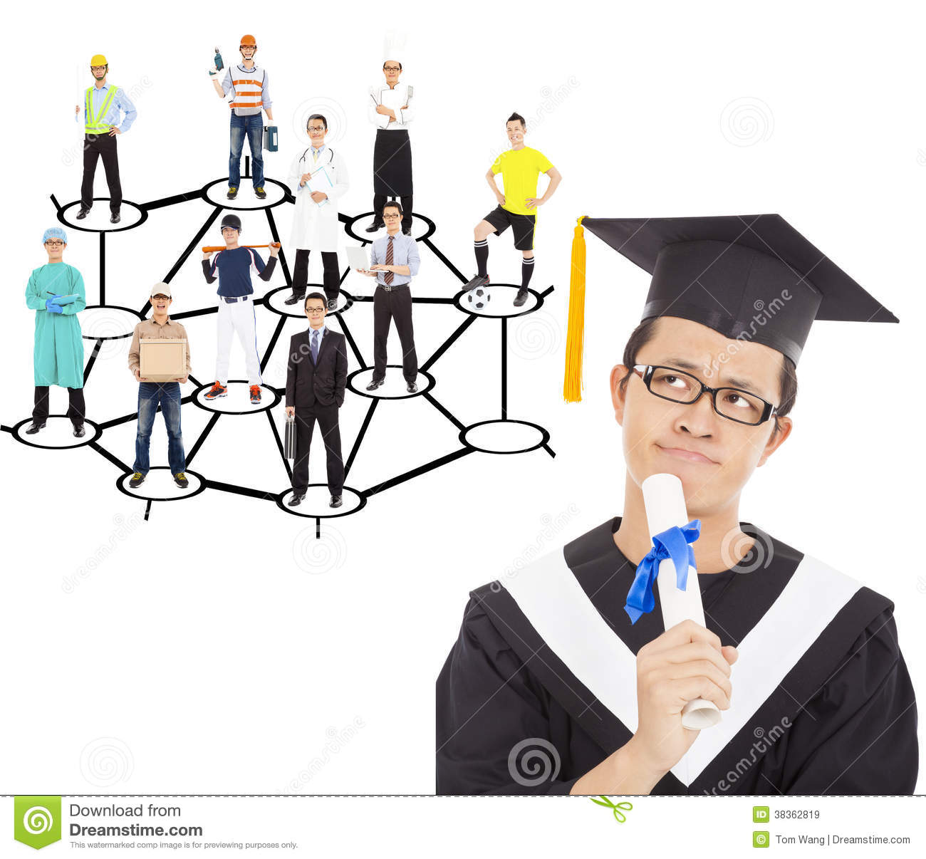 Graduate Thinking About His Career Planning Royalty Free Stock Images ...