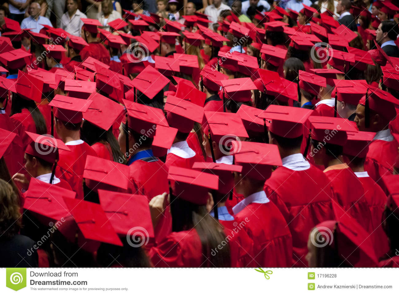 Graduates Red Cap And Gown Editorial Stock Photo - Image: 17196228