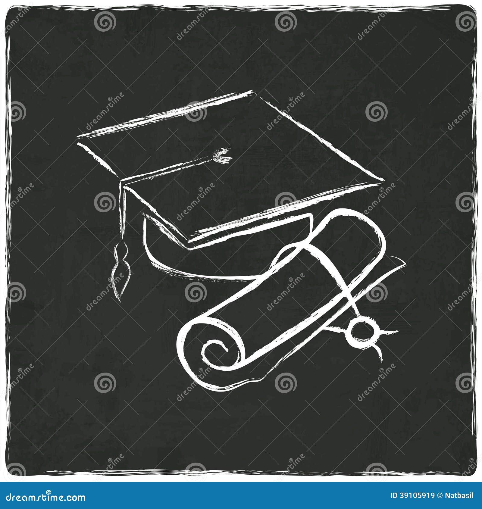 Graduatie GLB en diploma op oude achtergrond